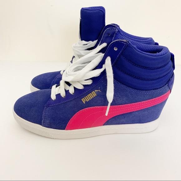 puma classic wedge sneakers